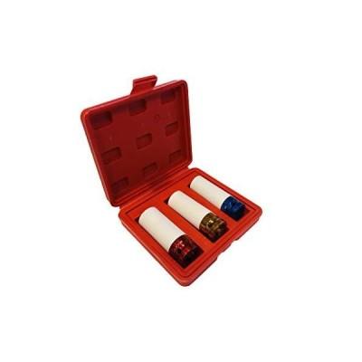 """【新品】1/2"""" Drive Color Coded Impact Socket Set with Protective Sleeves (17mm, 19mm, 21mm)"""