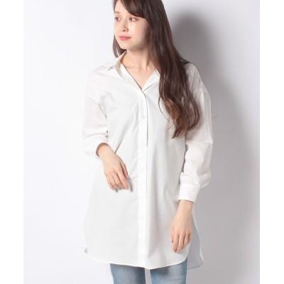 【コムサイズム】 フード付きシャツ レディース ホワイト F COMME CA ISM