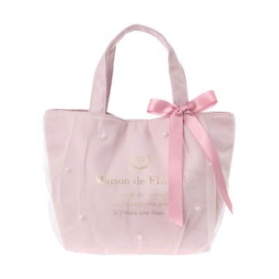 【メゾンドフルール】 チュールパールトートバッグ レディース ピンク F Maison de FLEUR