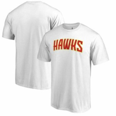 Fanatics Branded ファナティクス ブランド スポーツ用品  Fanatics Branded Atlanta Hawks White Primary Wordmark T-Shirt