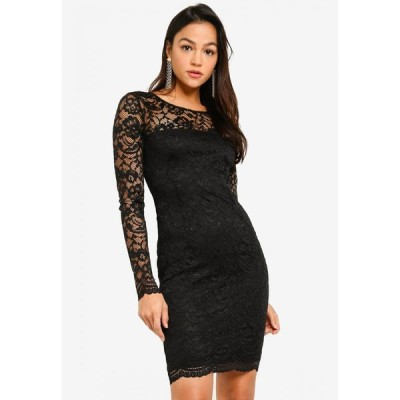 ゲス Guess レディース パーティードレス ワンピース・ドレス Glenna Lace Dress Black