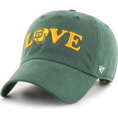 47ブランド '47 レディース 帽子 47 Baylor Bears Green Love Script Clean Up Adjustable Hat