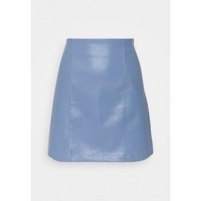 エディテッド スカート レディース ボトムス CELIA SKIRT - Mini skirt - blau