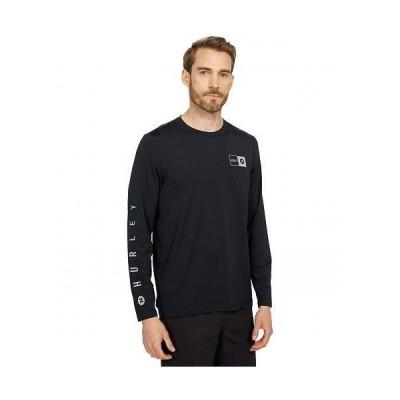 Hurley ハーレー メンズ 男性用 スポーツ・アウトドア用品 水着 ラッシュガード スイムシャツ Framed Hybrid Long Sleeve Tee - Black