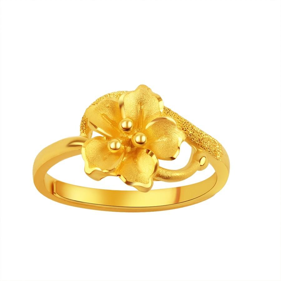 純金9999 黃金戒指 時尚藝術戒 0.96 錢重 活動戒圍 送禮大方 母親節禮物 情人節禮物  迎鶴金品