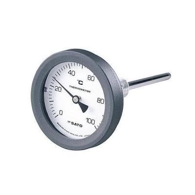 佐藤計量器製作所 バイメタル式温度計 2087-00 0〜50℃ 100mm BM-T-75P 1セット