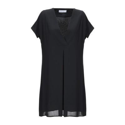 カオス KAOS ミニワンピース&ドレス ブラック 40 ポリエステル 100% ミニワンピース&ドレス