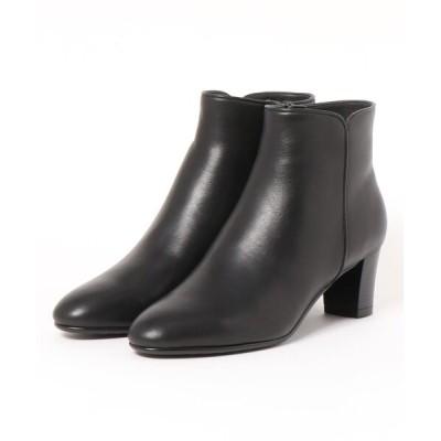Mode et Jacomo×ing / サイドカットデザインショートブーツ WOMEN シューズ > ブーツ