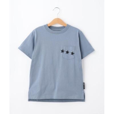 BASE CONTROL(Kids)(ベース コントロール(キッズ)) KIDS 定番空紡糸天竺 半袖スターポケットTシャツ