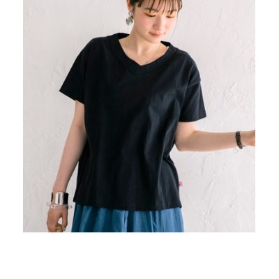 【WEB限定カラー】UVカット機能付きUSAコットンVネックTシャツ#