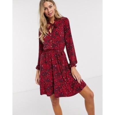 オアシス レディース ワンピース トップス Oasis shirt dress in heart print
