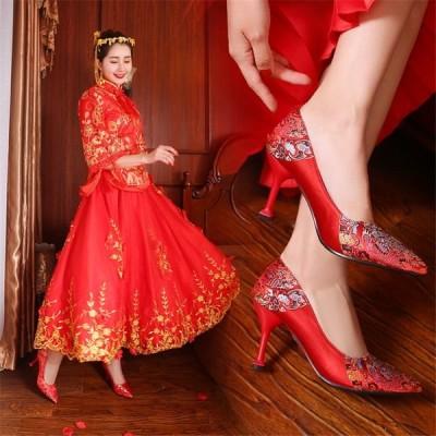 パンプス 靴 レディースシューズ ハイヒール ウエディング用 きれいめ 通気性 ピンヒール 美脚 痛くない 結婚式 春夏 おしゃれ ポインテッドトゥ オフィス 人気
