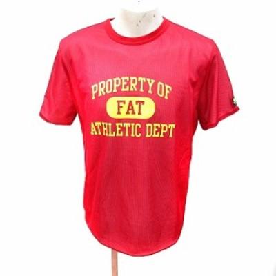 【中古】エフエーティー FAT カットソー Tシャツ クルーネック 半袖 メッシュ S 赤 レッド /RT メンズ