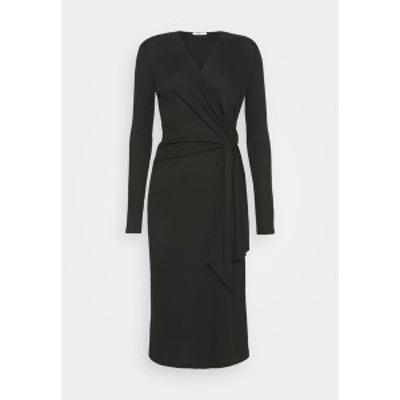 ラグアンドボーン レディース ワンピース トップス TIE MIDI DRESS - Jumper dress - black black