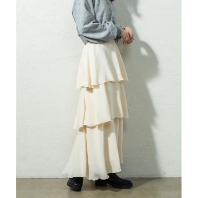 【ミスティック/mystic】 フレアティアードスカート
