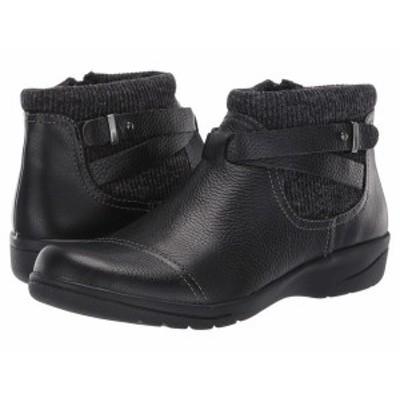 クラークス レディース ブーツ・レインブーツ シューズ Cheyn Kisha Black Tumbled Leather/Textile