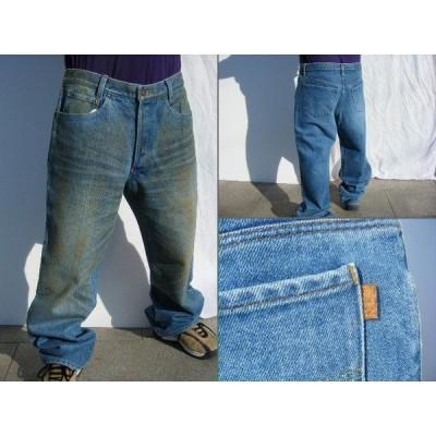 wisdom original patch work jeans indigo blue 【34】
