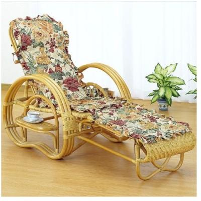 籐三つ折リクライニング寝椅子 カバー付き a200m 籐家具 籐 ラタン家具 ラタン 椅子 イス いす チェアー チェア リクライニングチェア 安い