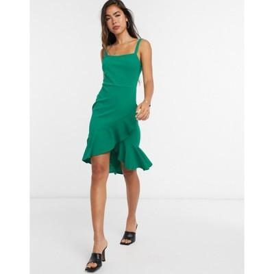ガール イン マインド レディース ワンピース トップス Girl In Mind frill hem strappy dress in green