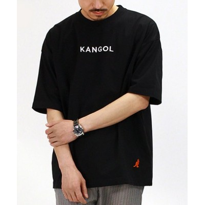 【Amerikaya】  カンゴール オーバーサイズ 胸&裾刺繍 半袖 Tシャツ ユニセックス ユニセックス ブラック L Amerikaya