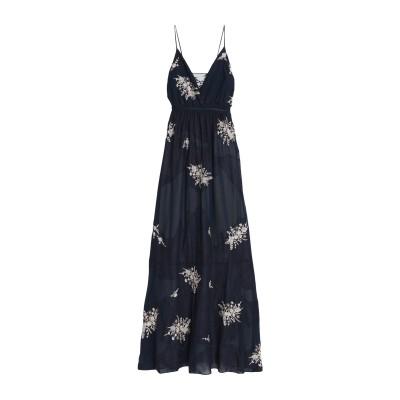 HAUTE HIPPIE ロングワンピース&ドレス ダークブルー 0 ポリエステル 100% ロングワンピース&ドレス