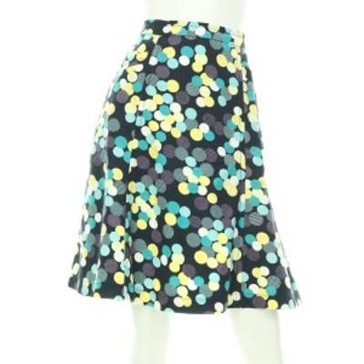 マークジェイコブス MARC JACOBS スカート サイズM レディース ブラック系 フレアスカート コットン100%【中古】20201222