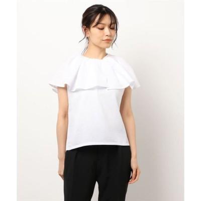tシャツ Tシャツ フリルカラーカットプルオーバー *
