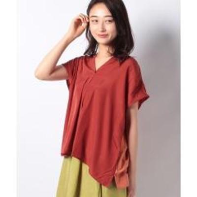 INTERPLANET(インタープラネット)異素材スキッパーシャツ