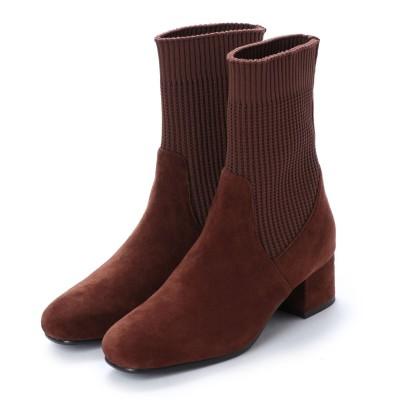 アンタイトル シューズ UNTITLED shoes ショートブーツ (ブラウンスエード)