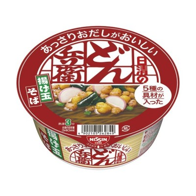 日清食品 日清のあっさりおだしがおいしいどん兵衛 5種の具材が入った揚げ玉そば 70g 1ケース(12食)