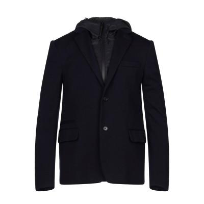 プラダ PRADA テーラードジャケット ダークブルー 54 バージンウール 100% / ナイロン / 牛革(カーフ) テーラードジャケット