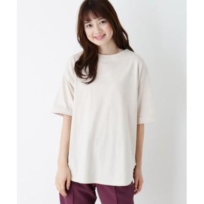 SHOO・LA・RUE / 【M-L】USAコットン裾ラウンドゆるTシャツ WOMEN トップス > Tシャツ/カットソー