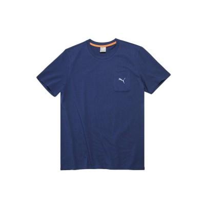 【20%OFFクーポンあり 10/24迄】プーマ(PUMA) SUPER PUMAリラックス 半袖Tシャツ 589889 01 NVY (メンズ、レディース)