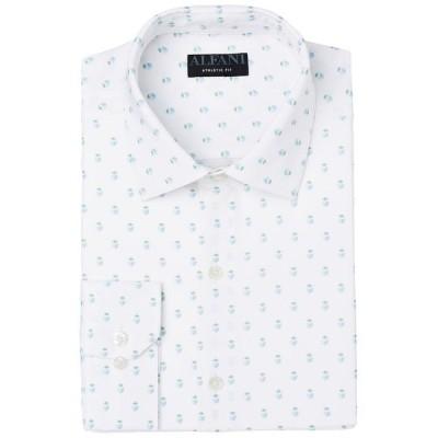 アルファニ メンズ シャツ トップス Men's Slim-Fit Geo-Print Dress Shirt