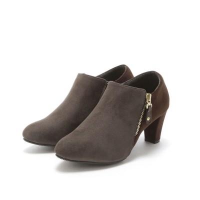 VIVIAN COLLECTION / カラーヒールサイドファスナーブーティー WOMEN シューズ > ブーツ
