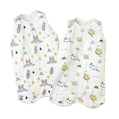 6重 ガーゼ スリーパー 冬 キッズ ベビー 赤ちゃん 寝袋 女の子 男の子 オーガニックコットン100% お昼寝 寝冷え防止 通気性 新生児 3歳ま
