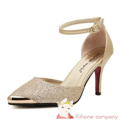 ヒール8.5cm サイズ22.5-24.5cm 結婚式靴 美脚パンプス 披露宴 パーティ 靴 ハイヒール パンプス シューズ 痛くない