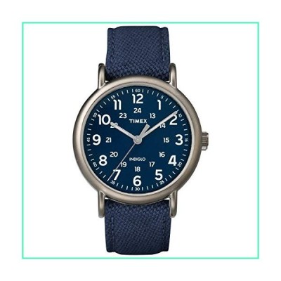 Timex Men's TWF3C8450 Weekender 40 Blue/Titanium Two-Piece Leather/Fabric Strap Watch並行輸入品