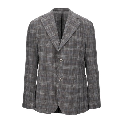 PRIMO EMPORIO テーラードジャケット ブラウン 46 コットン 65% / リネン 20% / ポリエステル 15% テーラードジャケット