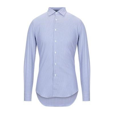 MASSIMO LA PORTA シャツ ブルー 39 リネン 100% シャツ