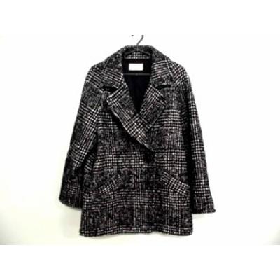 アンタイトル UNTITLED コート サイズ44 L レディース 黒×白 チェック柄/冬物【中古】20200405