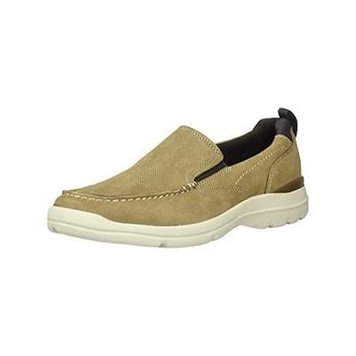 Rockport Men's City Edge Slip On Shoe Sneaker, Taupe Nubuck, 11.5 M US