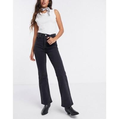 リーバイス Levi's レディース ジーンズ・デニム ブーツカット ボトムス・パンツ Ribcage bootcut jeans in washed black