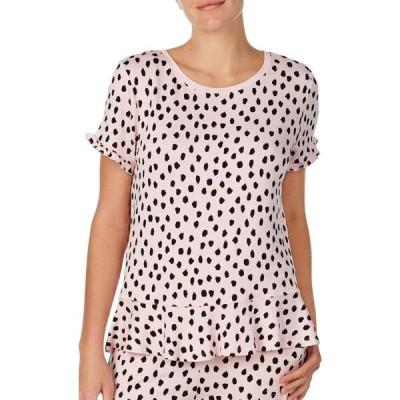 ケイト スペード KATE SPADE NEW YORK レディース Tシャツ トップス ruffle hem t-shirt Pastry Spot