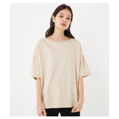 tシャツ Tシャツ ワイドネックルーズトップス