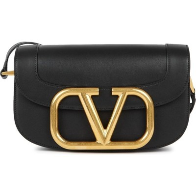 ヴァレンティノ Valentino レディース ショルダーバッグ バッグ Garavani My Vlogo Black Leather Saddle Bag Black