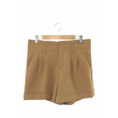 【中古】アンタイトル UNTITLED パンツ ショート ジップフライ 2 茶 ブラウン /AY22 レディース