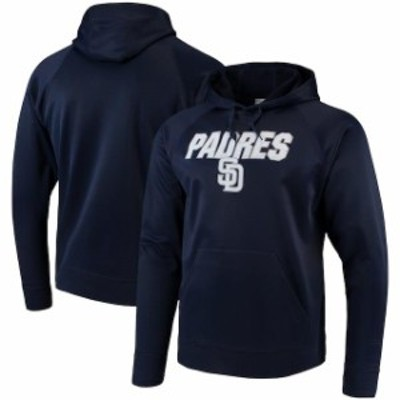Majestic マジェスティック スポーツ用品  Majestic San Diego Padres Navy Synthetic Fleece Pullover Hoodie