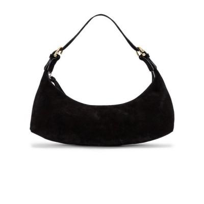 バイ ファー BY FAR レディース ショルダーバッグ バッグ mara suede leather bag Black