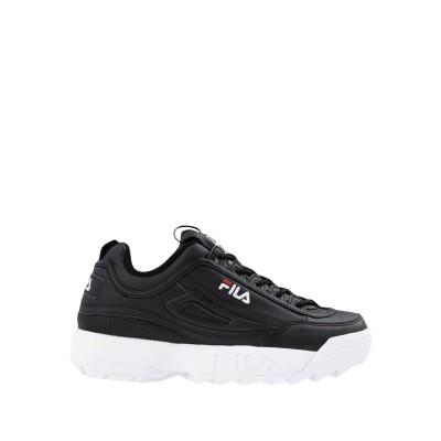 FILA HERITAGE スニーカー&テニスシューズ(ローカット) ブラック 6 紡績繊維 スニーカー&テニスシューズ(ローカット)